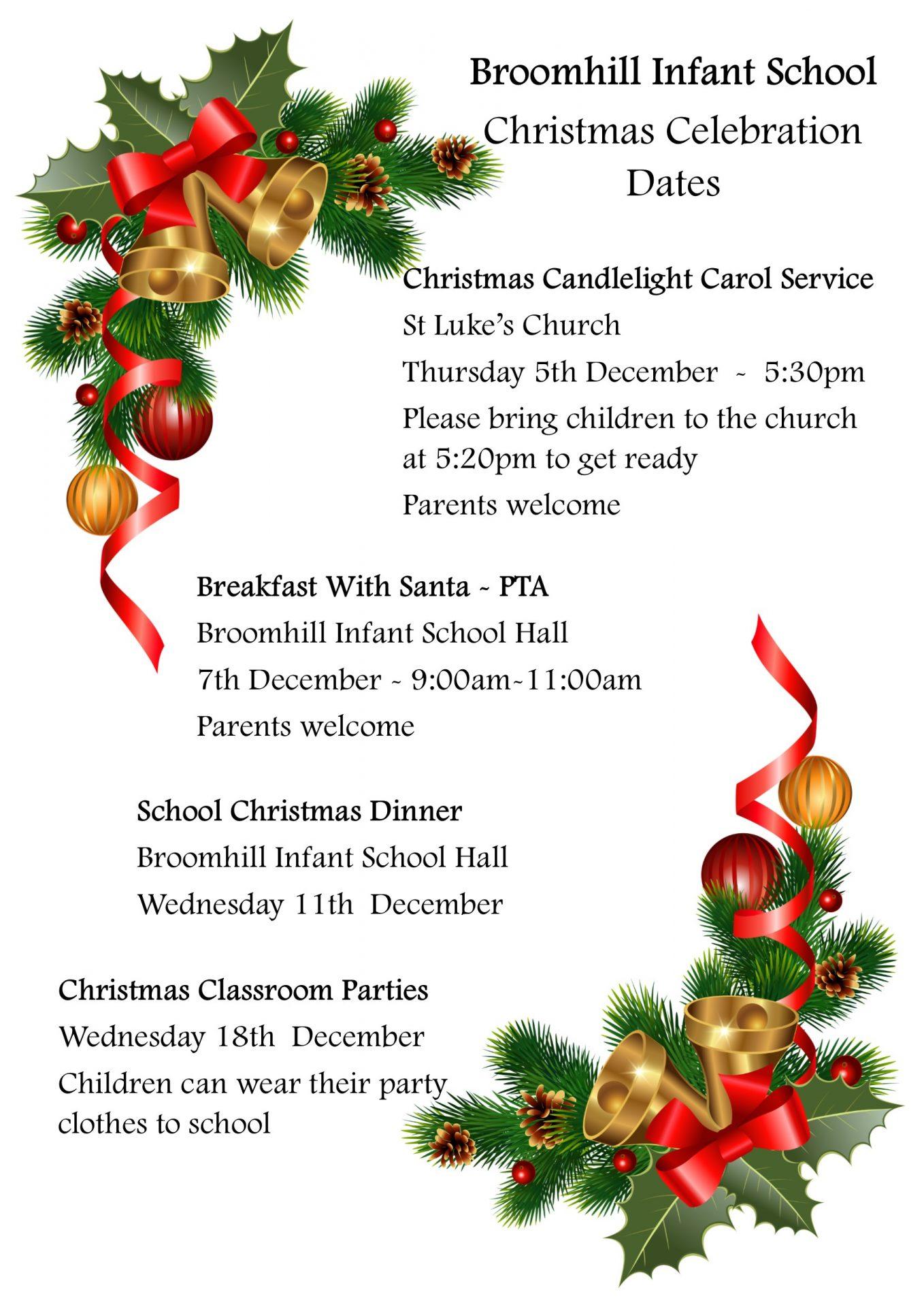 Christmas Celebration Dates