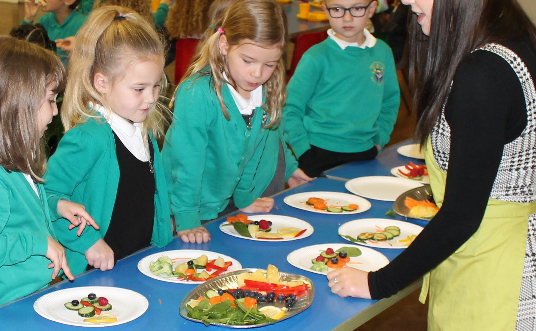 Healthy Eating Art with Chartwells.