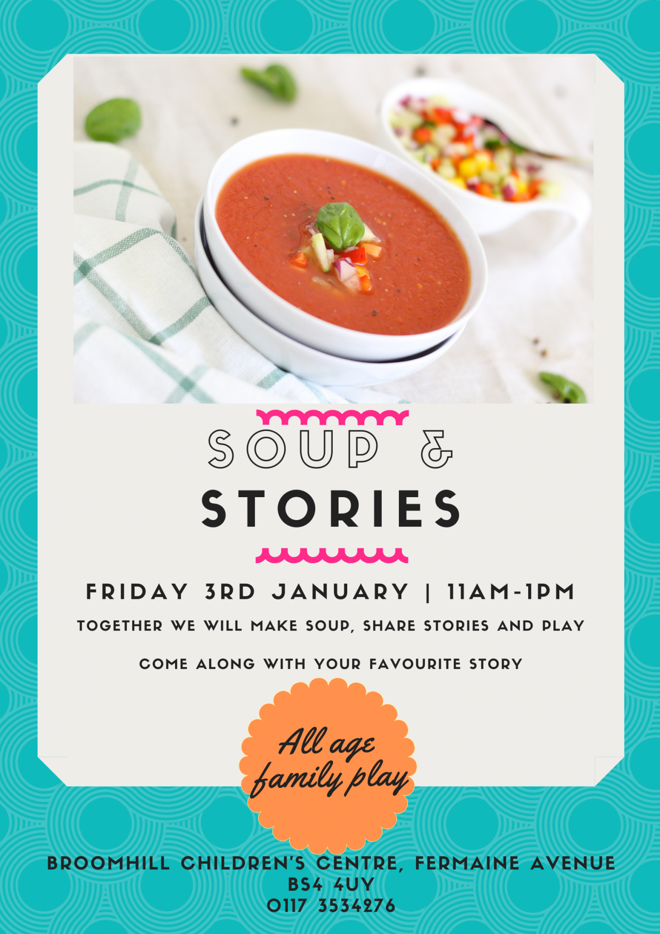 Soup & Stories at Broomhill and Speedwell Children's Centers
