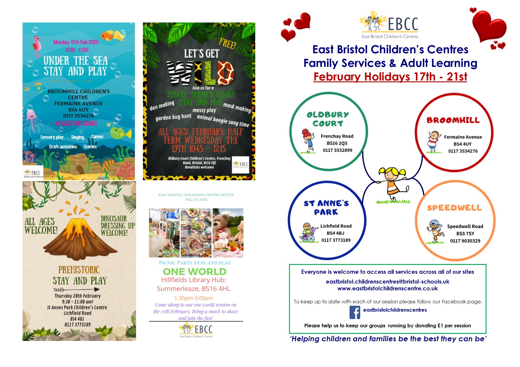 East Bristol Children's Centres Family Services & Adult Learning