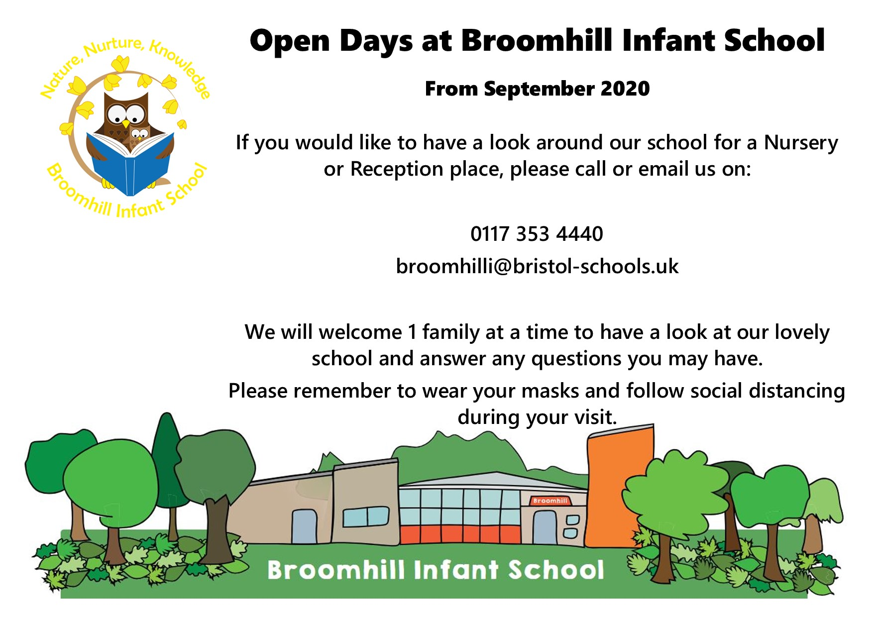 Open Days at Broomhill Infant School