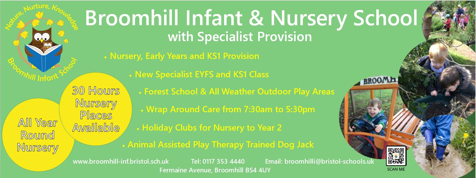 What do we have to offer at Broomhill Infant & Nursery School with Specialist Provision?